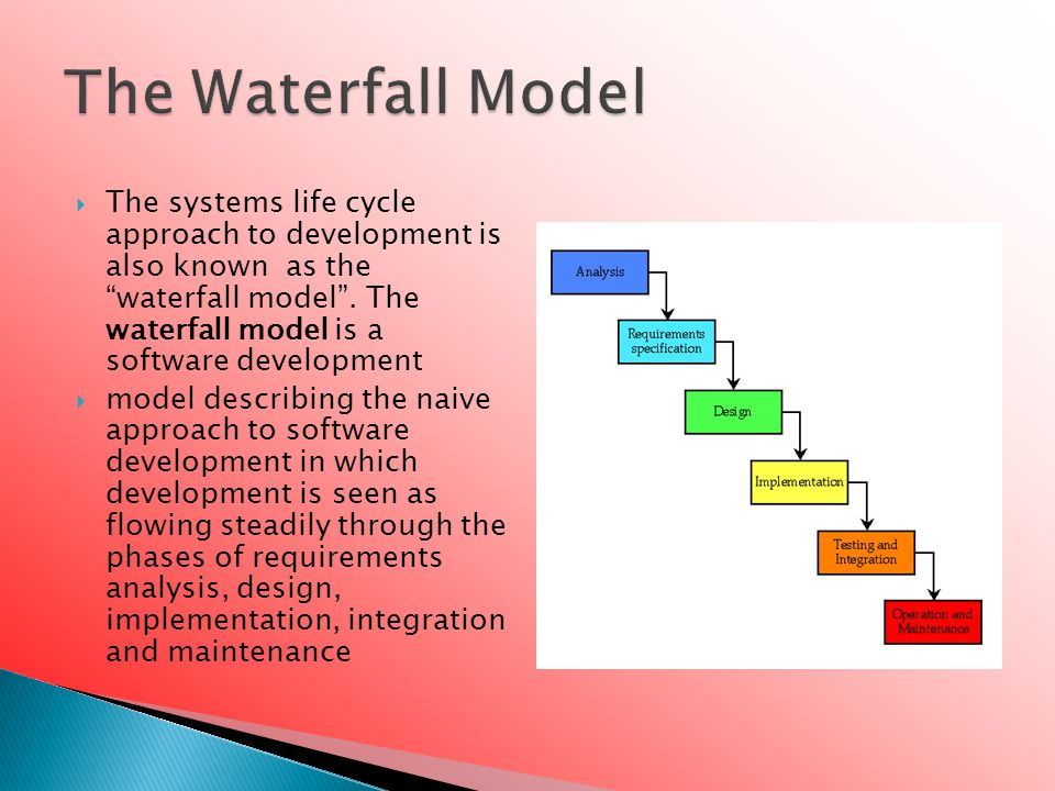  The development of a new information system is a major undertaking and not one to be undertaken lightly.