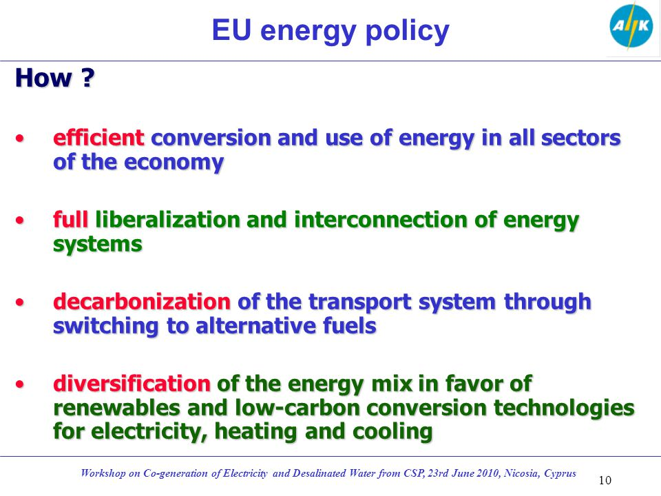 EU energy policy How .