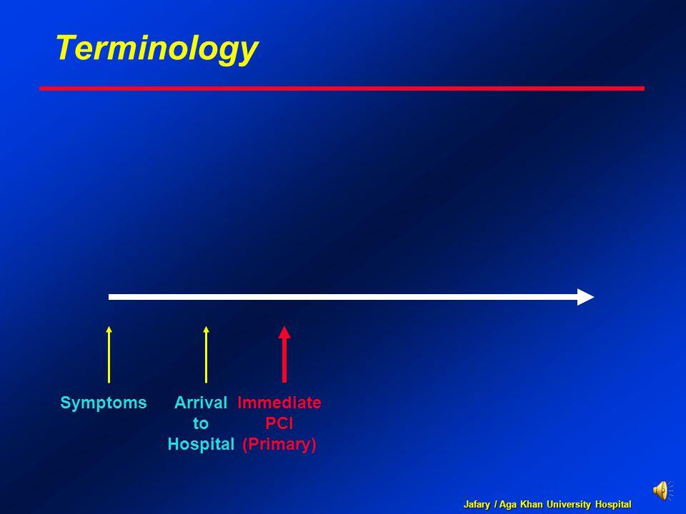 Jafary / Aga Khan University Hospital Terminology SymptomsArrival to Hospital Immediate PCI (Primary)