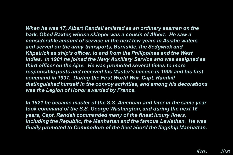 NextPrev. Rear Admiral Albert B. Randall, U.S.N.R.