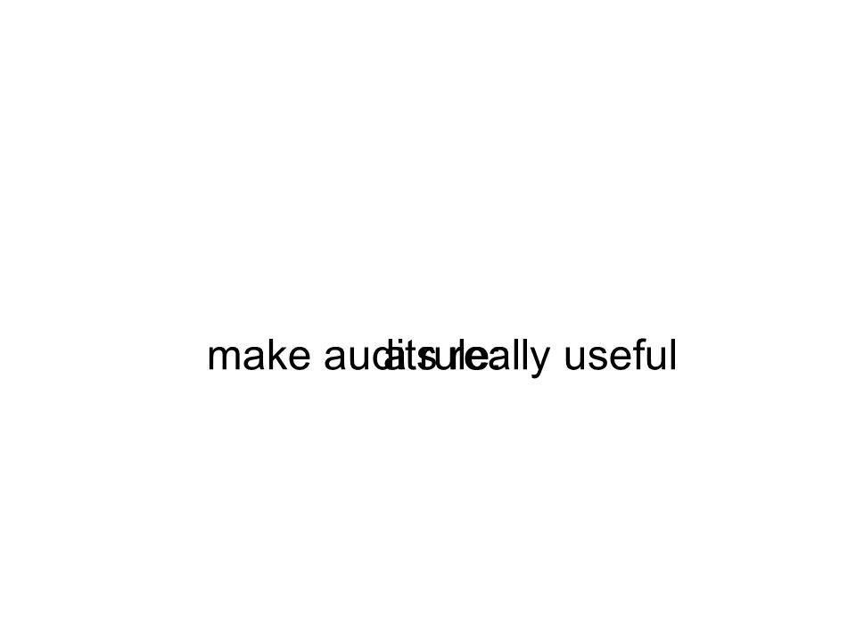 a rule:make audits really useful