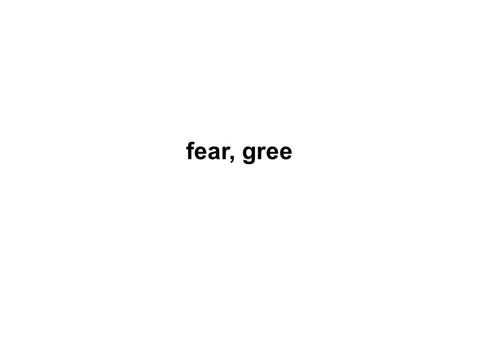 fear, gree