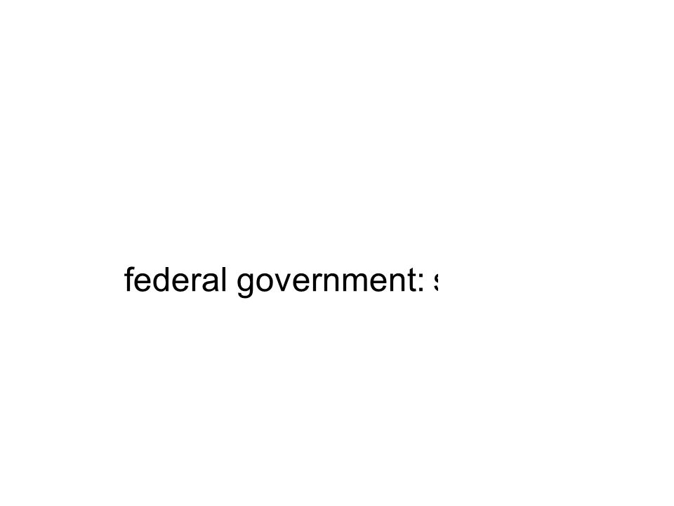 federal government: spent out