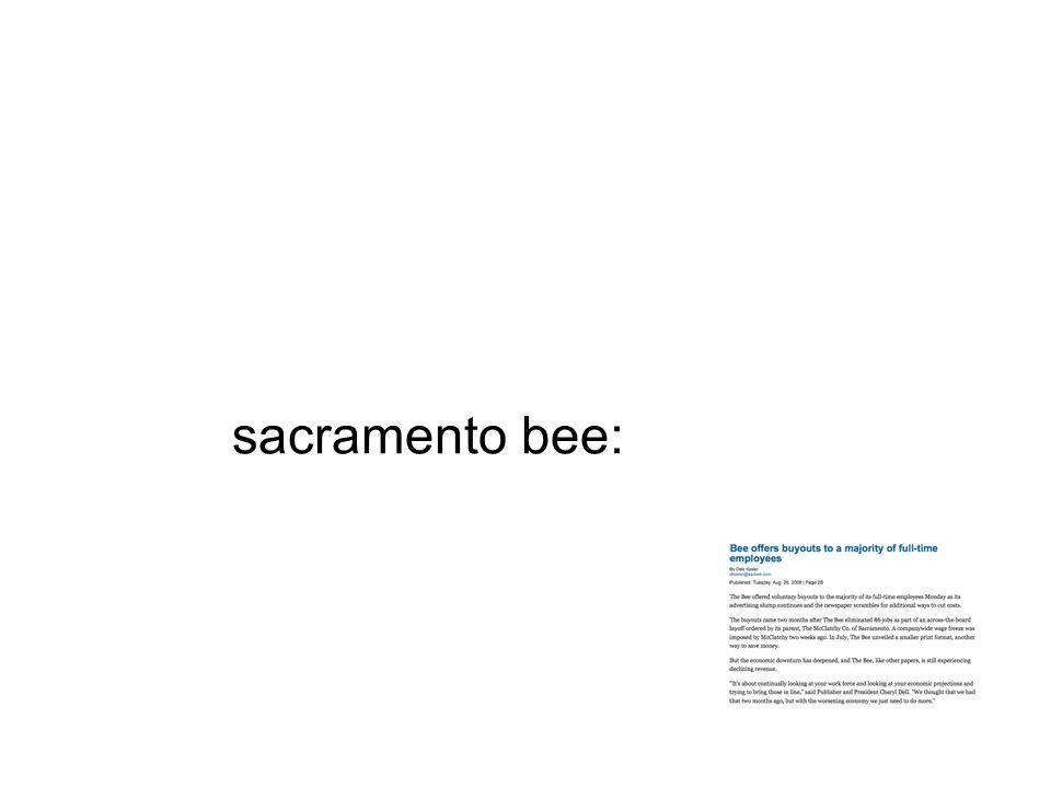 sacramento bee: spent out