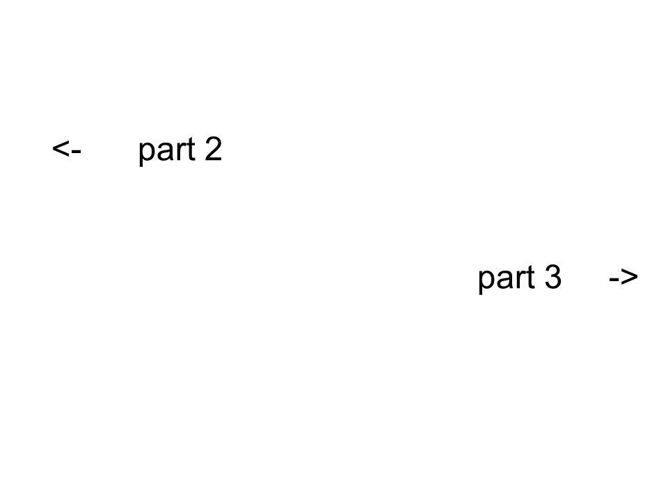part 3 -> <- part 2