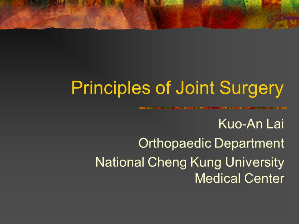 Joint Disorders Degenerative joint disorders — OA Noninfectious inflammatory disorders-RA etc.