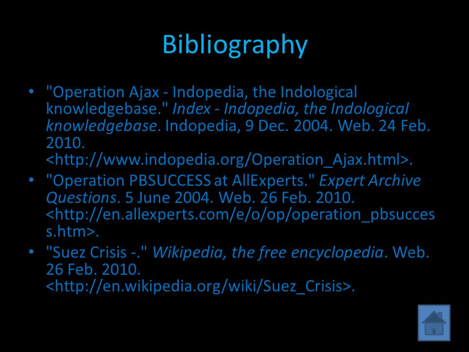 Bibliography Operation Ajax - Indopedia, the Indological knowledgebase. Index - Indopedia, the Indological knowledgebase.