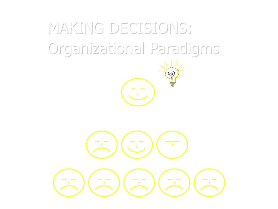 MAKING DECISIONS: Organizational Paradigms