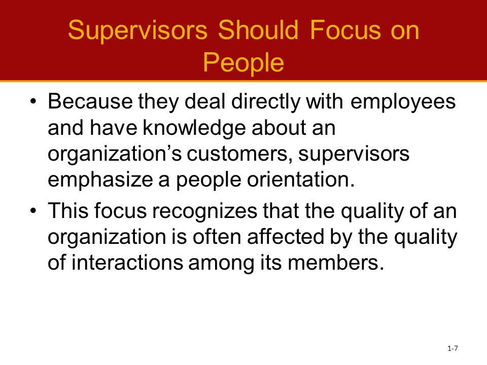 Characteristics of a Successful Supervisor 1-28