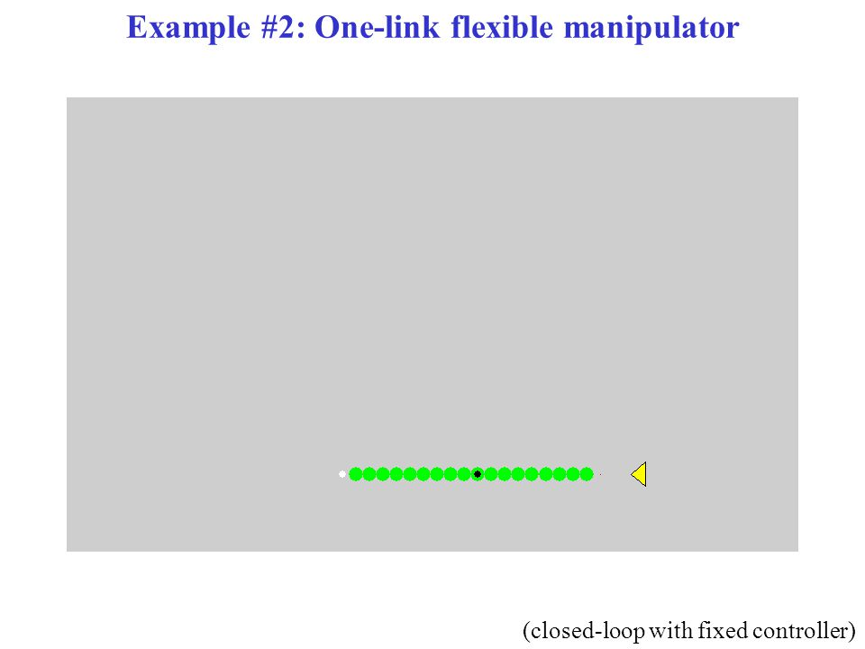 Example #2: One-link flexible manipulator (closed-loop with fixed controller)