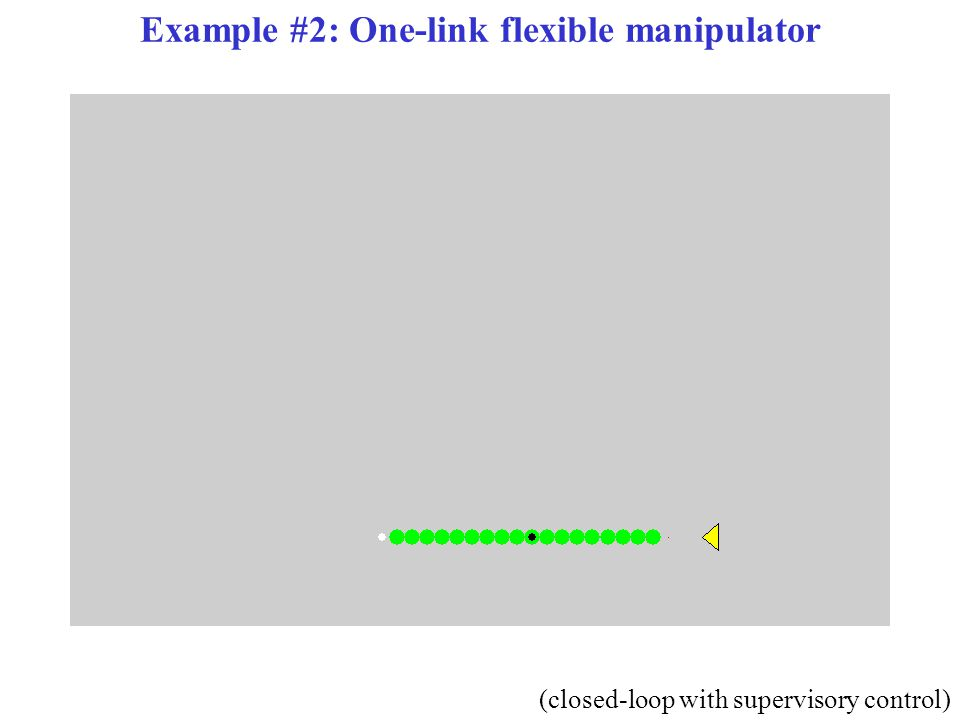 Example #2: One-link flexible manipulator (closed-loop with supervisory control)