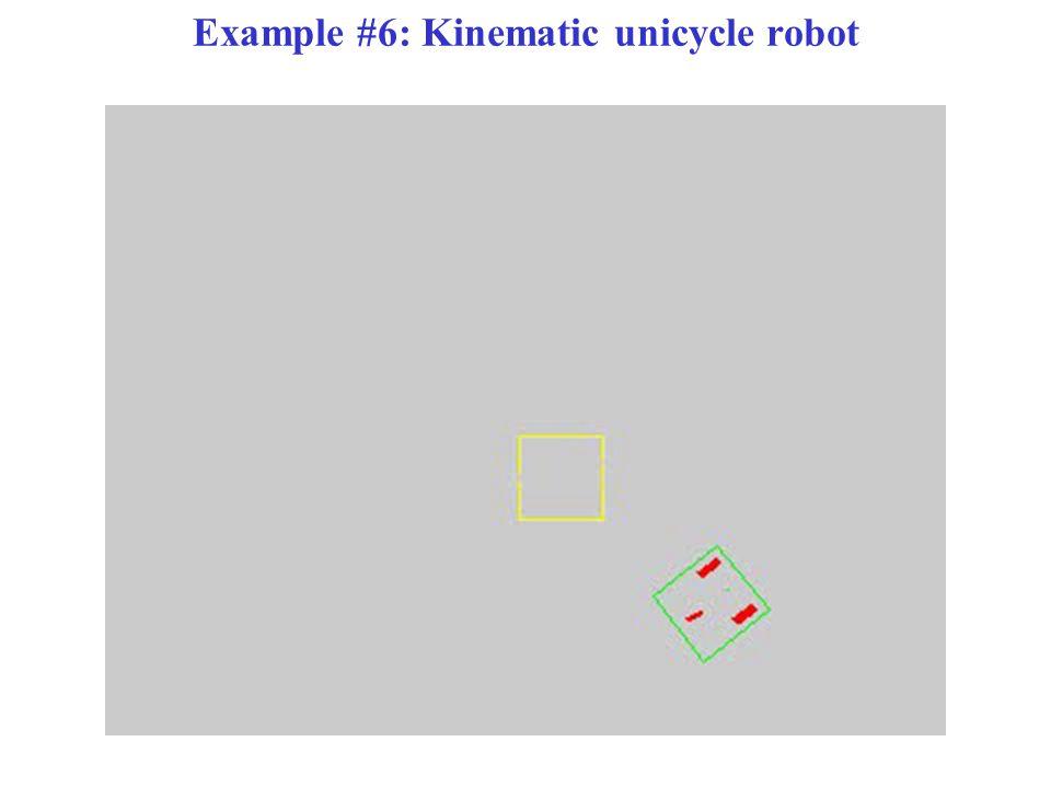 Example #6: Kinematic unicycle robot