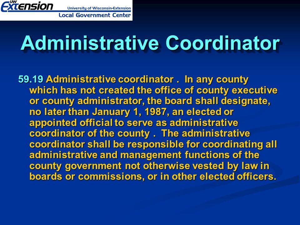 Administrative Coordinator 59.19 Administrative coordinator.