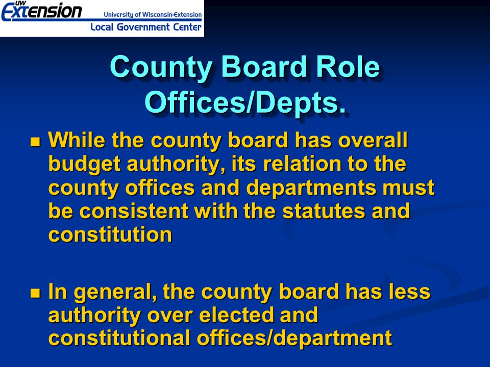 County Board Role Offices/Depts.