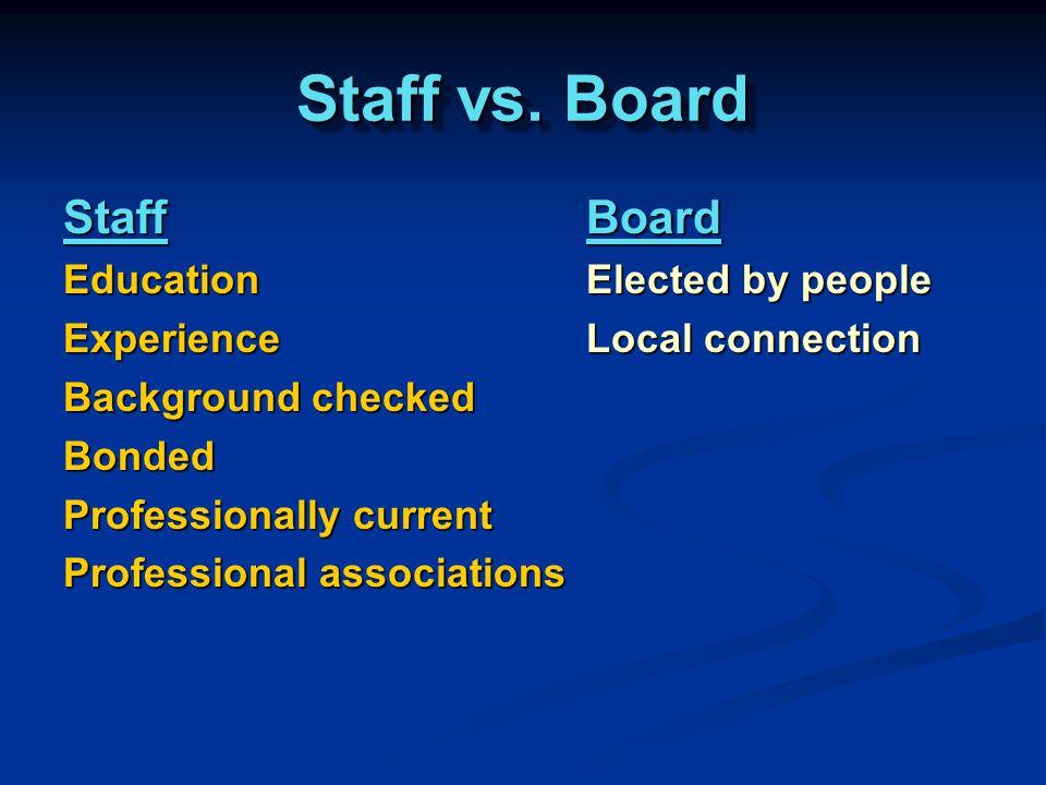 Staff vs.