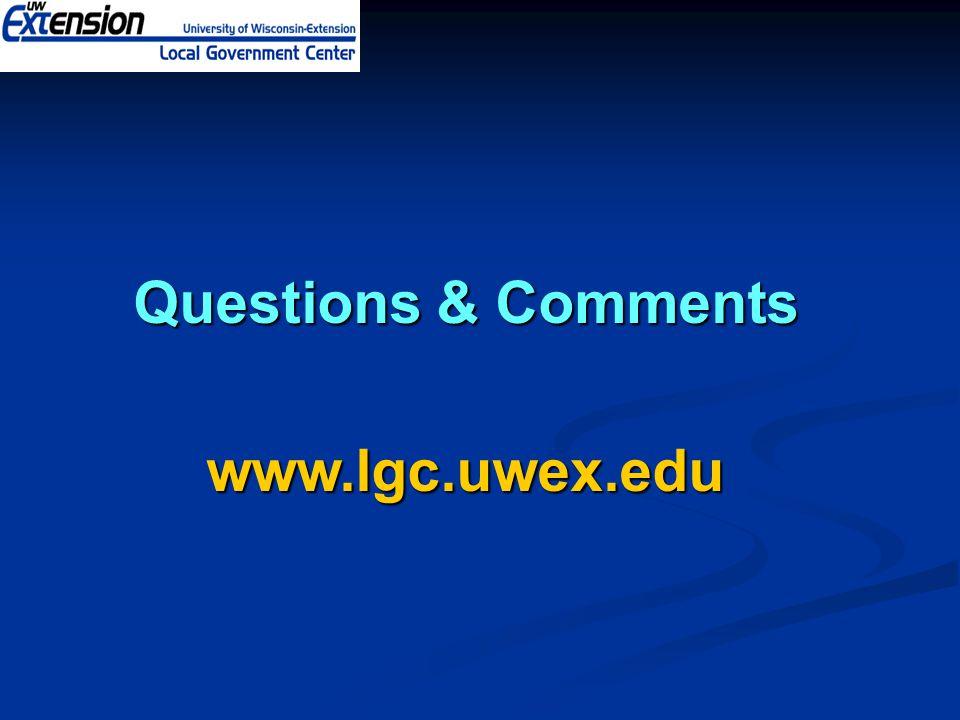Questions & Comments www.lgc.uwex.edu