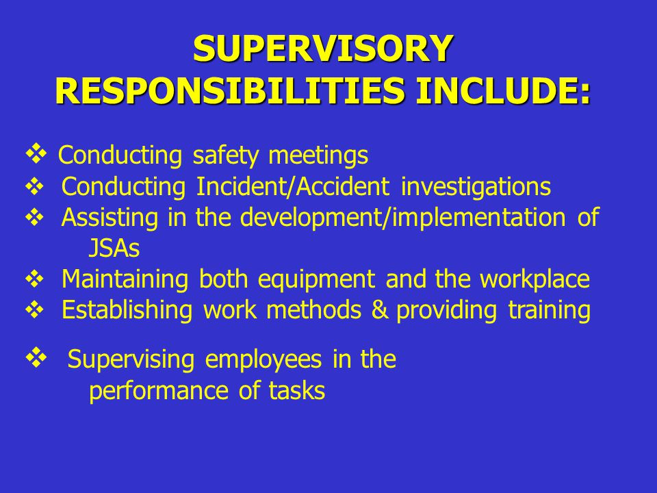 INVESTIGATIONS Supervisor over work area is primarily responsible for conducting the investigation Includes:  General Information  Root Cause  Corrective Action  Documentation  Written Statements