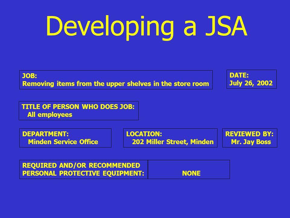 WHAT IS A JSA.