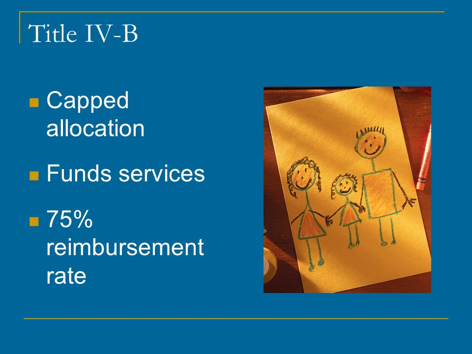 Title IV-B Capped allocation Funds services 75% reimbursement rate