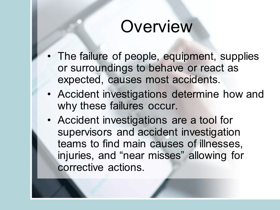 Who Should Perform the Accident Investigation.