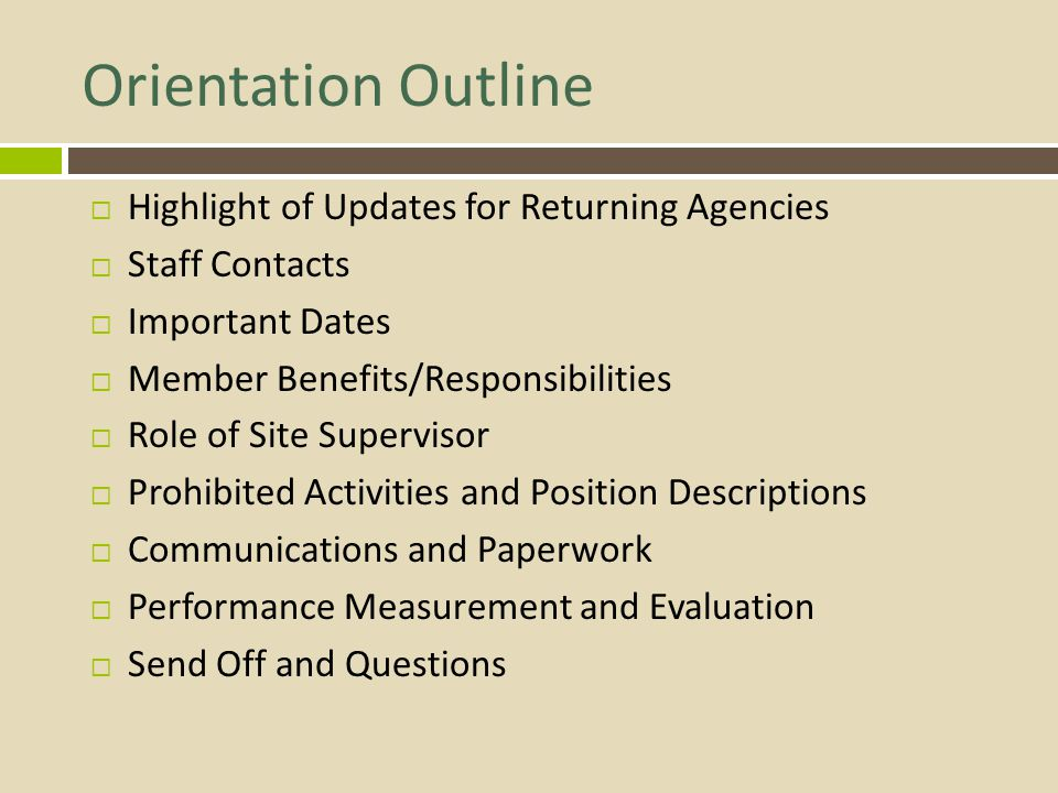 Additional Notes on Positions  Non-displacement and non-duplication  Includes temporarily replacing staff  No money handling  Non-clerical and non-administrative roles  only allowed if directly support program activities  No fundraising  some exceptions for limited in-kind  Notes on red flag language