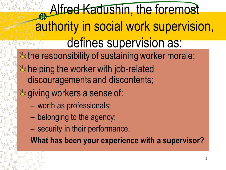 4 What do supervisors do?
