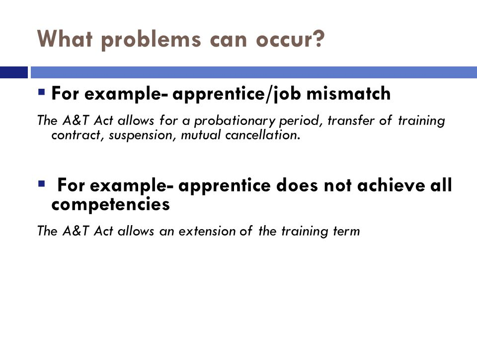 What does it mean for a trainee/apprentice to be competent?