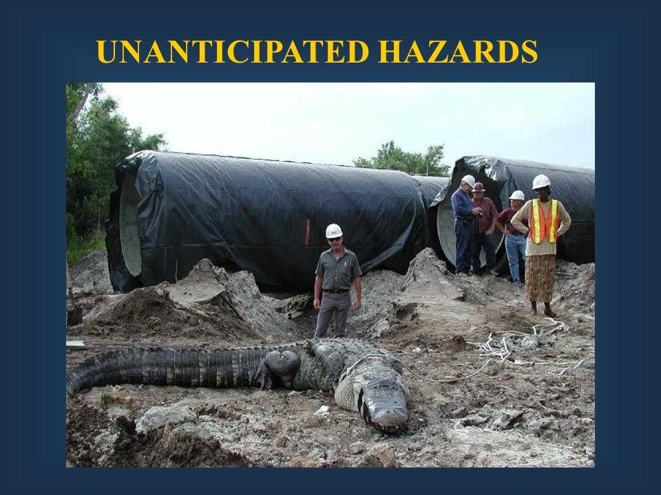 UNANTICIPATED HAZARDS