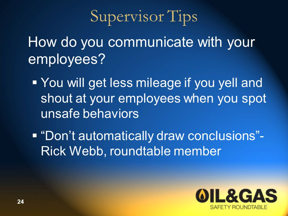 24 Supervisor Tips How do you communicate with your employees.