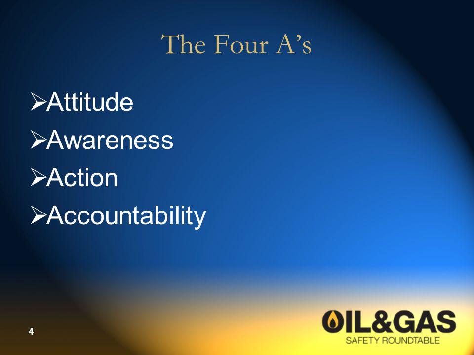 4 The Four A's  Attitude  Awareness  Action  Accountability