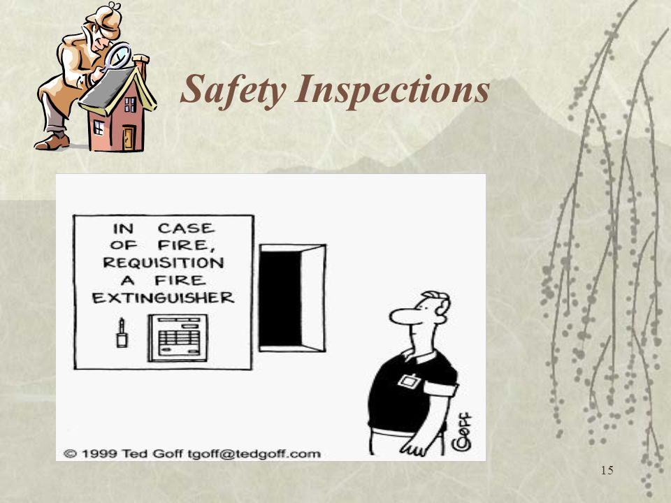 15 Safety Inspections