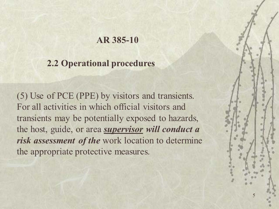 36 Why Hazard Assessment. 29 CFR Part 1910.