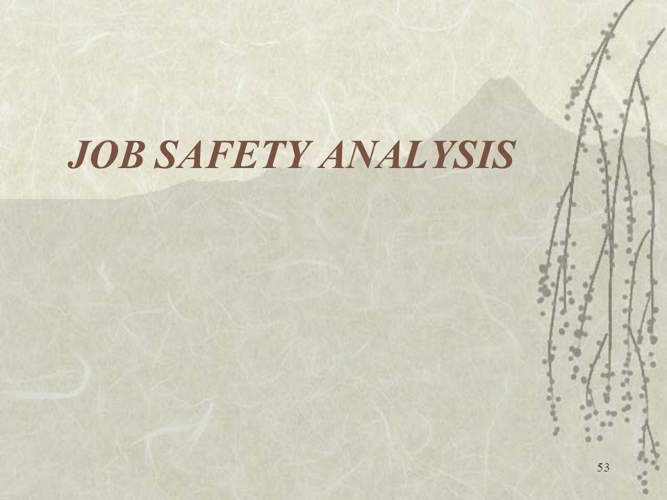 53 JOB SAFETY ANALYSIS