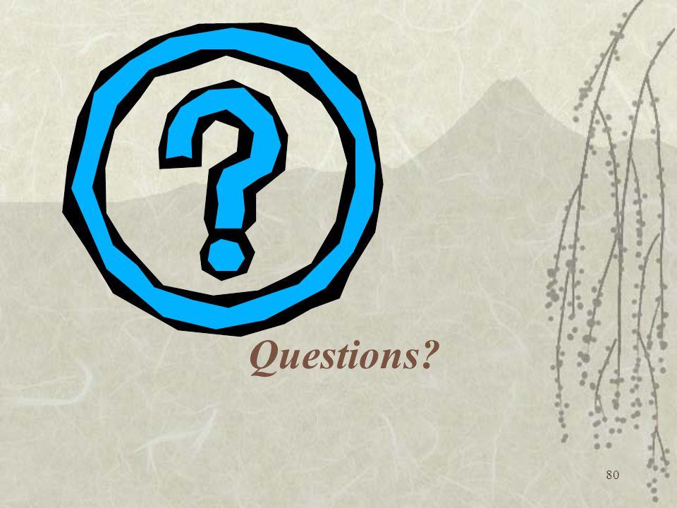80 Questions?