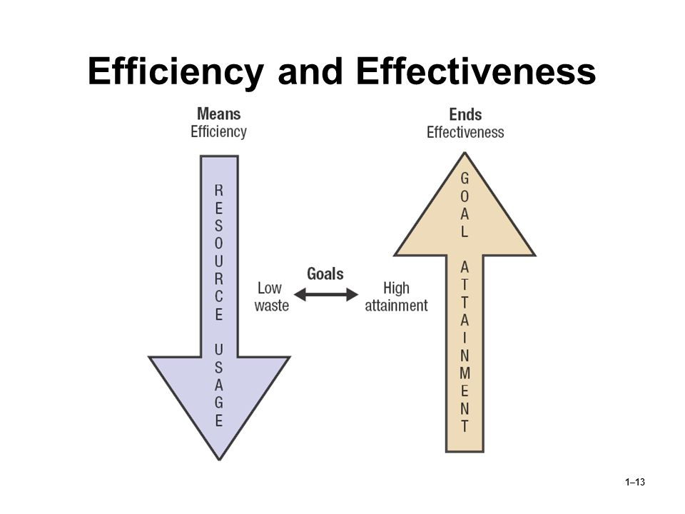 1–13 Efficiency and Effectiveness