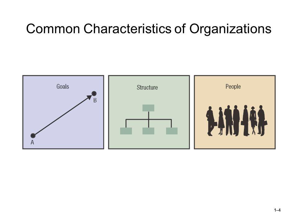 1–4 Common Characteristics of Organizations