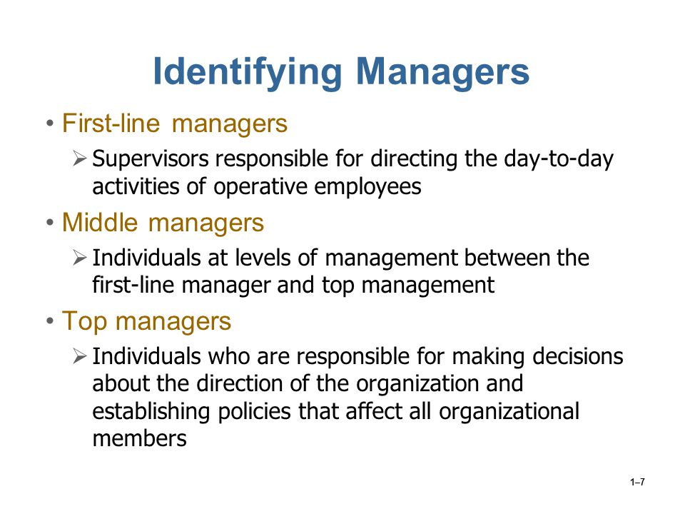 1–18 The Transition from Employee to Supervisor Where Do Supervisors Come From.