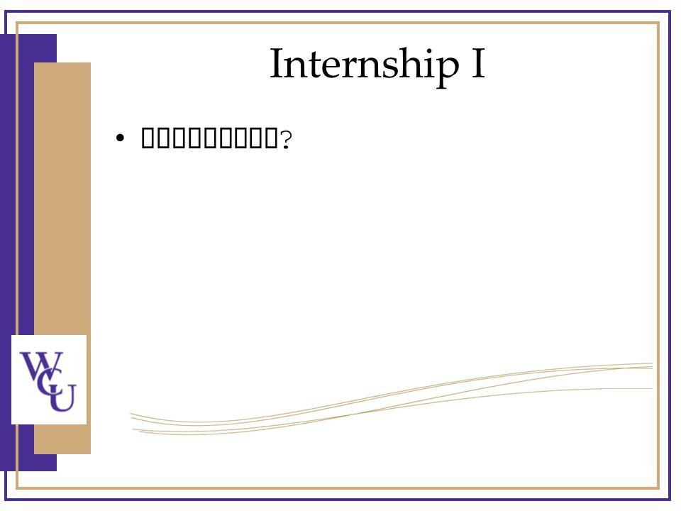 Internship I Questions