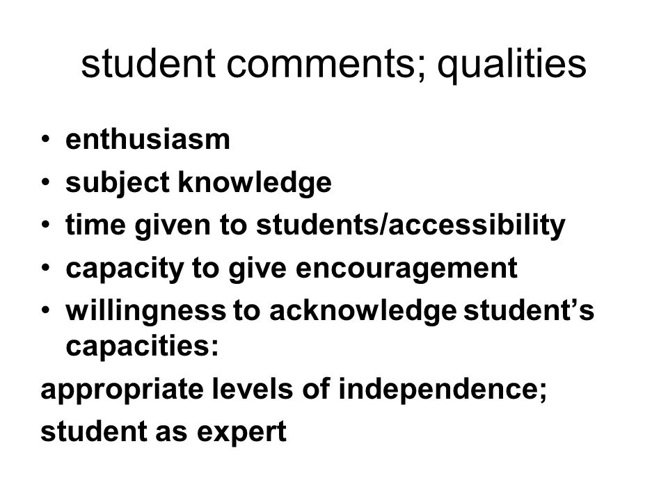 student comments: problems supervisors too busy - even during the supervision not good procurers of resources feedback too slow/too minimal