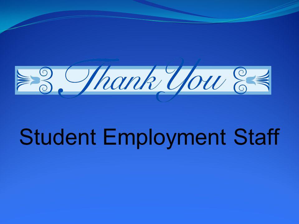 Student Employment Staff