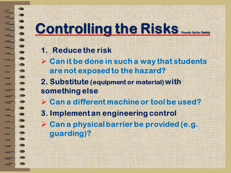 Controlling the Risks Heads Up for Safety 4.