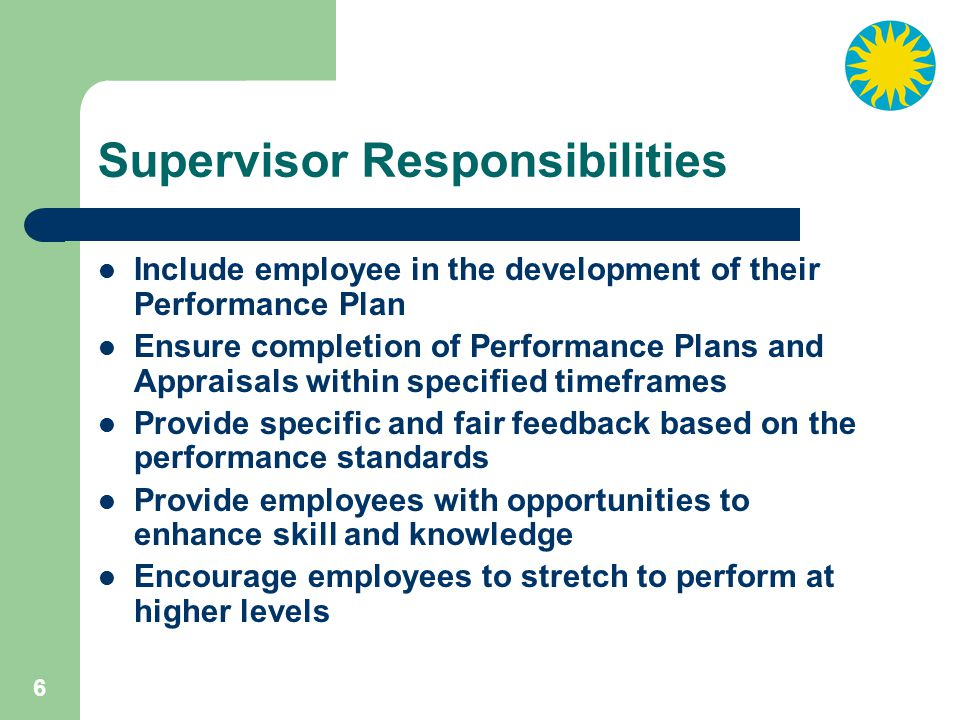 17 A Performance Standard is a work requirement that identifies the measures that will be used to evaluate performance.