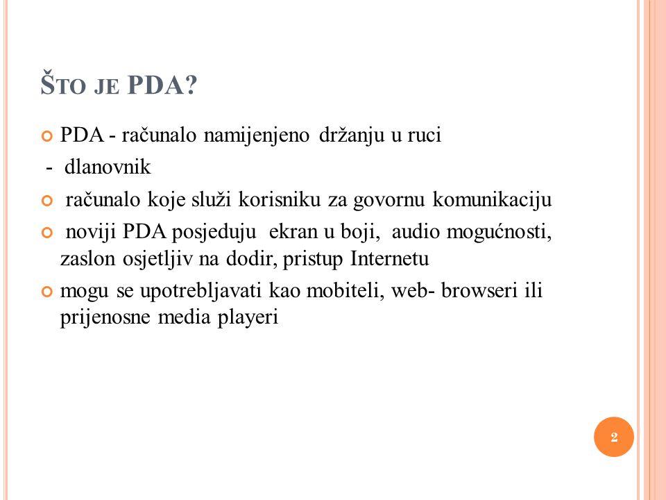 R AZVOJ PDA UREĐAJA slika1:lenta-razvoj PDA uređaja 3
