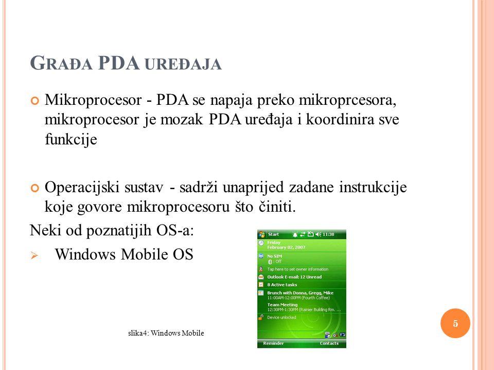  Palm OS Slika5:Palm OS  Symbian OS slika6: Symbian OS 6