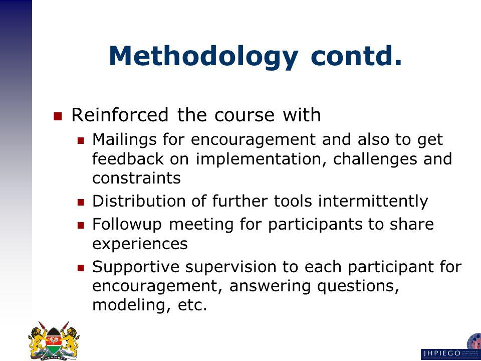 Methodology contd.