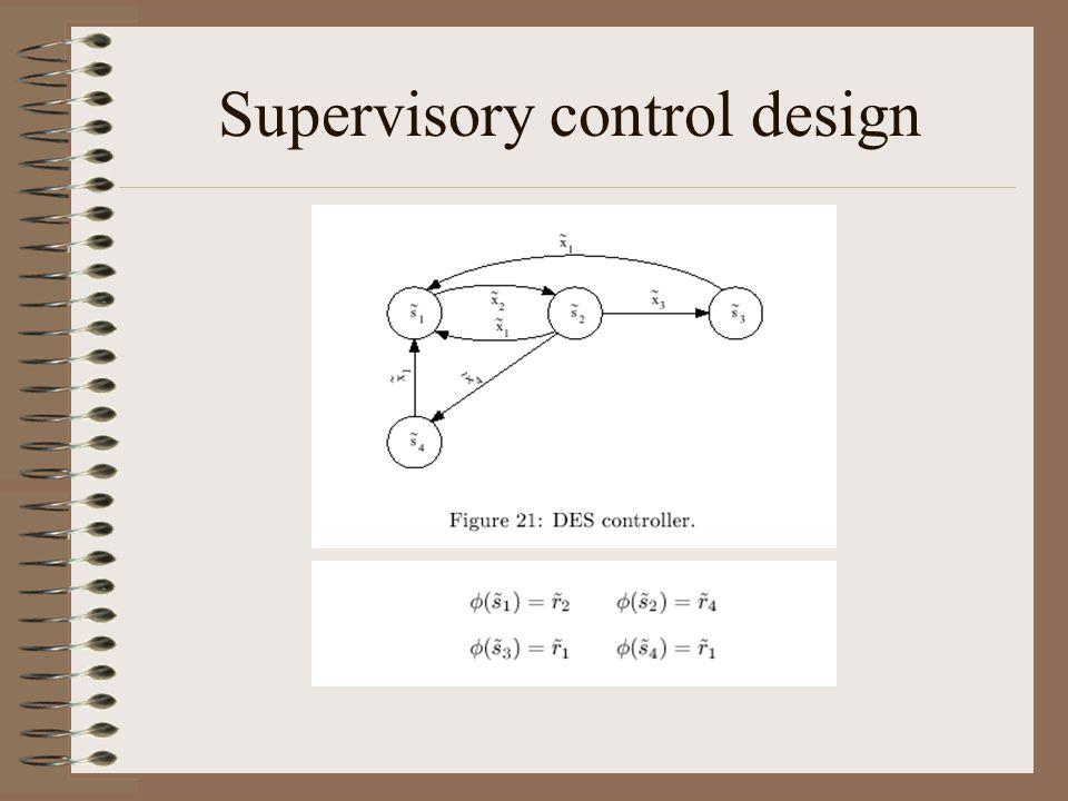 Supervisory control design