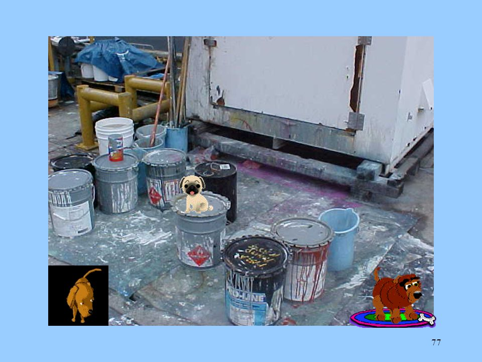 76 Every item of HM being used in a work space must be on that work space's Authorized Use List (AUL) Each employee must know where the MSDS's are kep