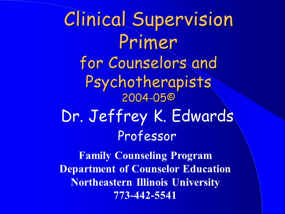 Patterns of Interaction in Supervision l Supervision can be multidirectional l Clinical supervision might be best defined as the joint monitoring of: l 1) each supervisee's current therapy cases, 2) growth of supervisee as a therapist, 3) the process of supervision, 4) the interaction between supervisor and supervisee.