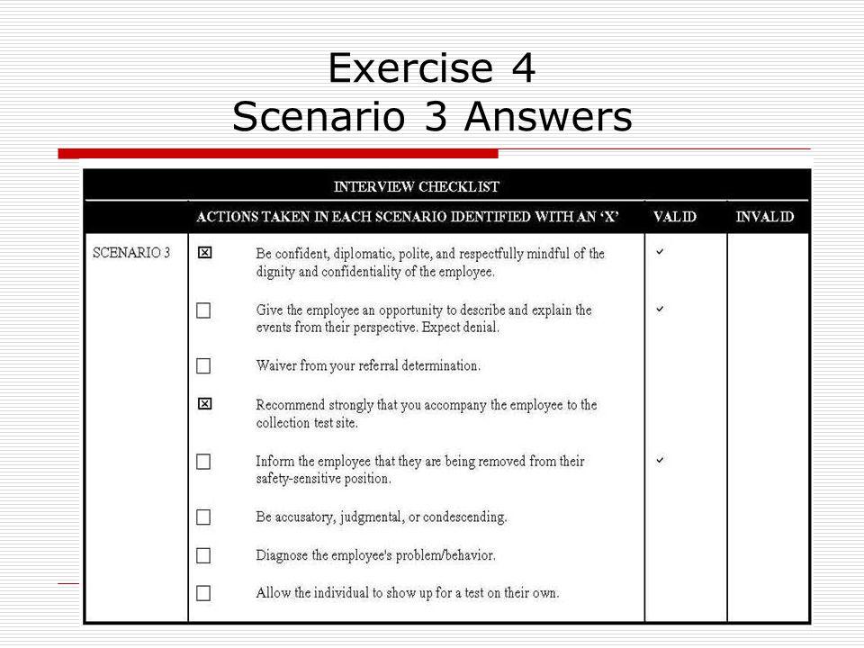 48 Exercise 4 Scenario 3 Answers