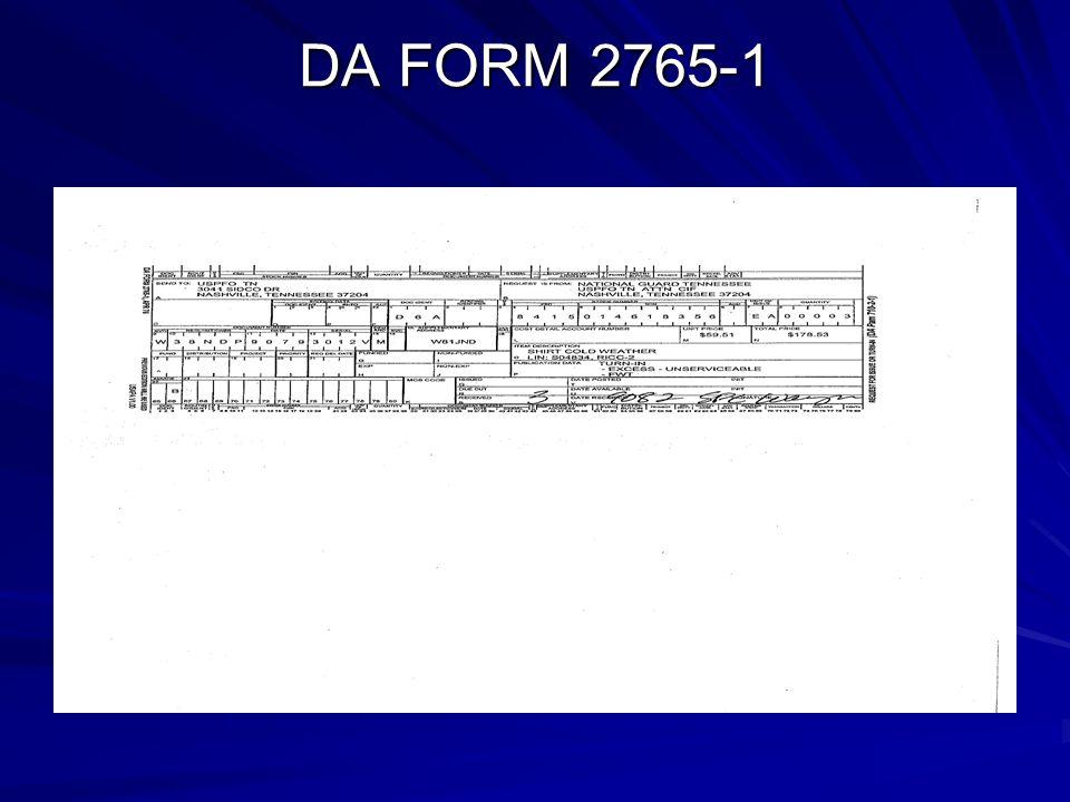 DA FORM 2765-1